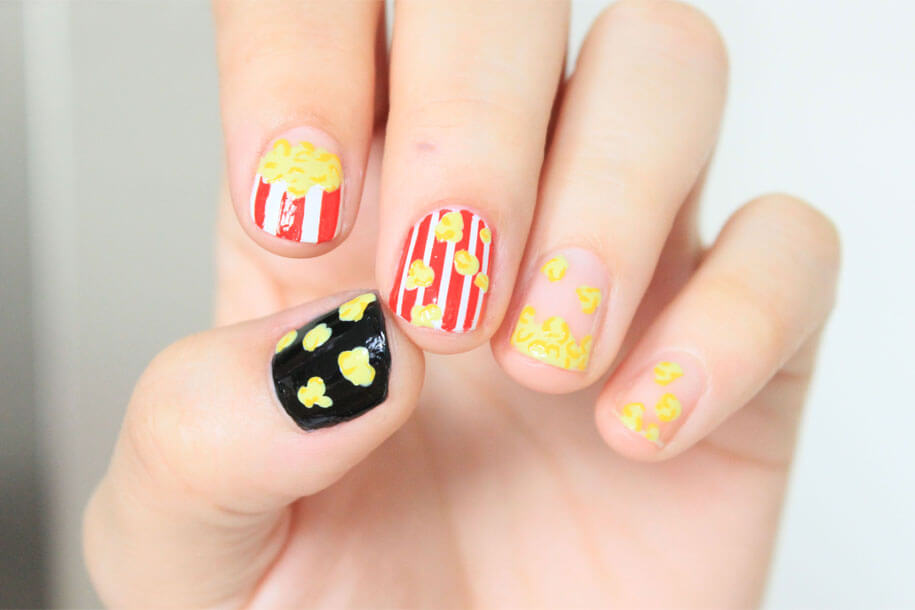 Pop-Corn-Nail-Art
