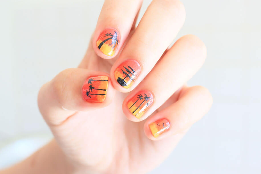 Sunset-Nail-Art
