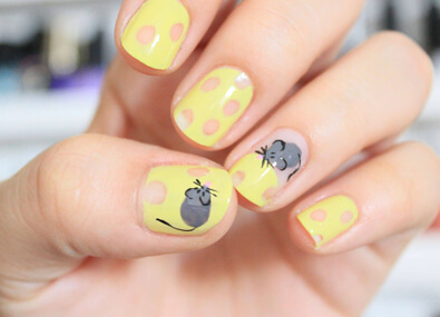 Cheese-Nail-Art