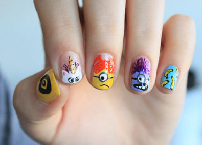 Despicable-Me-Nail-Art