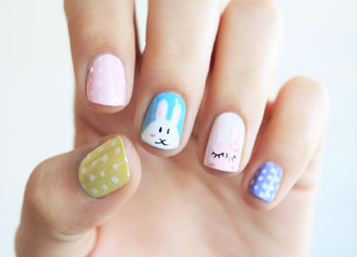 Easter-Rabbits-Nail-Art