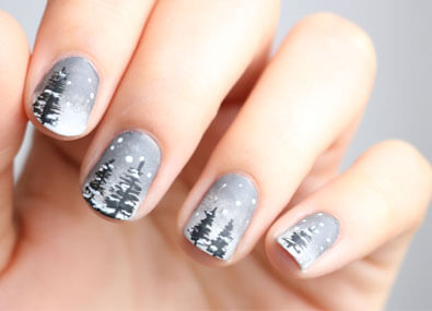 Winter-Forest-Nail-Art