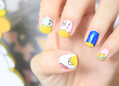 The-Simpsons-Nail-Art
