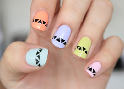 Graphic-Pastel-Nail-Art