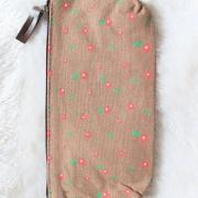 Trousse en tissu marron